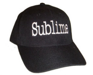 Sublime Embroidered Logo